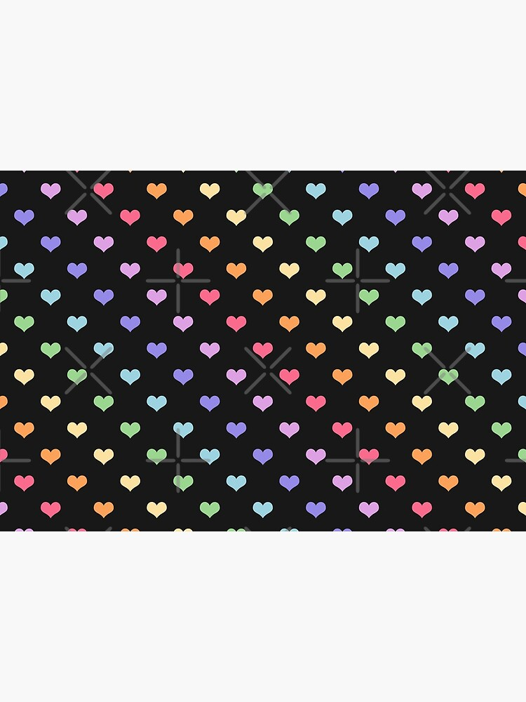 Kawaii Black Rainbow Hearts by sugarhai