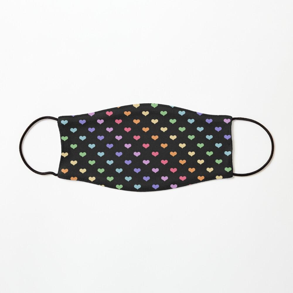 Kawaii Black Rainbow Hearts Mask