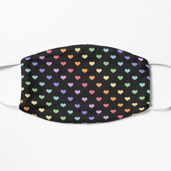 Kawaii Black Rainbow Hearts Mask