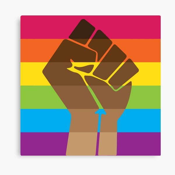 LGBT+ & BLM Pride Fist Canvas Print