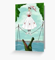 Haunted Mansion- Mary Poppins  Greeting Card