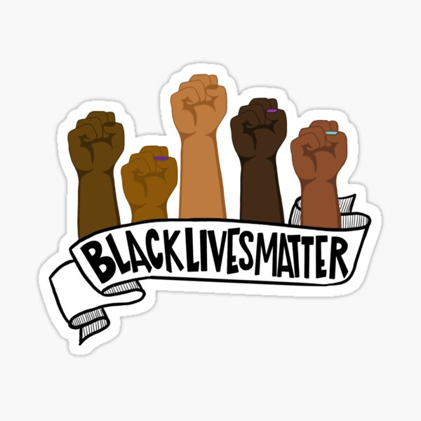 Goodde 10 pcs Black Lives Matter Anti-Racism BLM Movement Small Bumper Sticker or Laptop Decal