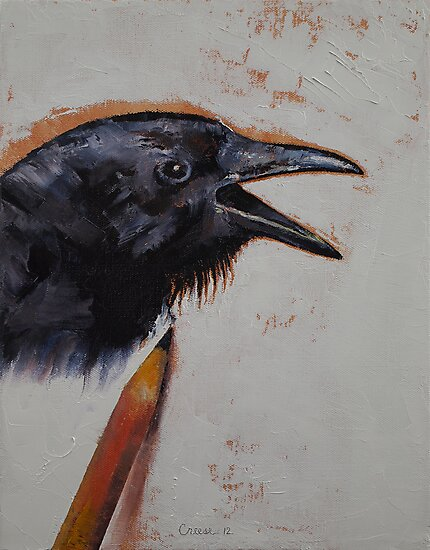 Raven Sketch by Michael Creese