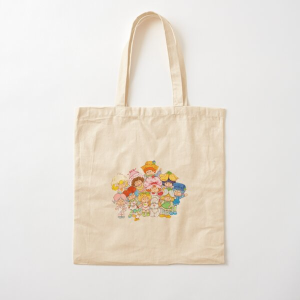 Strawberry shortcake vintage characters Cotton Tote Bag