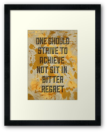 One Should Strive... by Mark Hyland