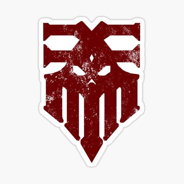 blood god warband grunge Sticker