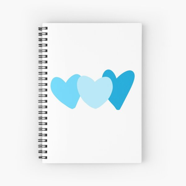 hearts - blue scale Spiral Notebook