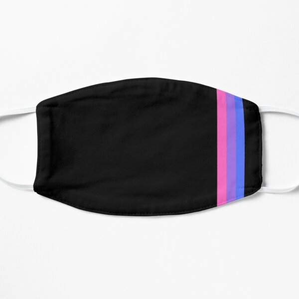 Subtle Retro Bisexual Flag Design Flat Mask