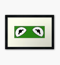 The Frog is watching Framed Print
