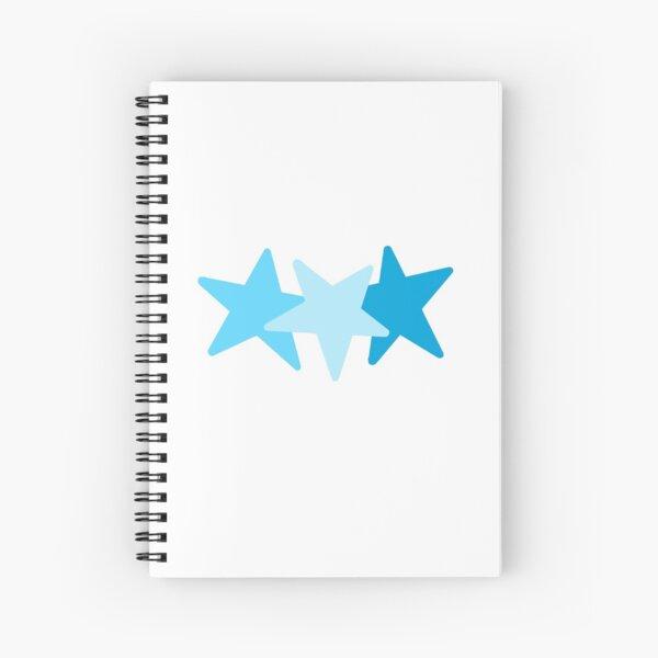 stars - blue scale Spiral Notebook