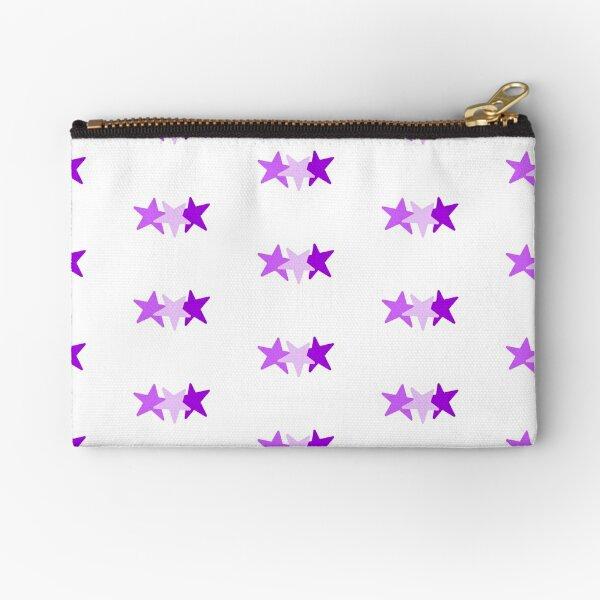stars - purple scale Zipper Pouch