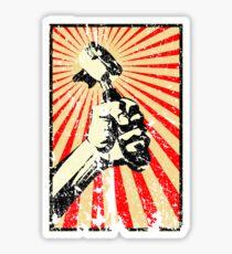 Coffee Revolution! Distressed Sticker