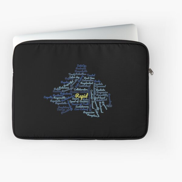 rapid word cloud Laptop Sleeve