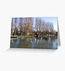 River Thames at Sandford near Oxford. Greeting Card