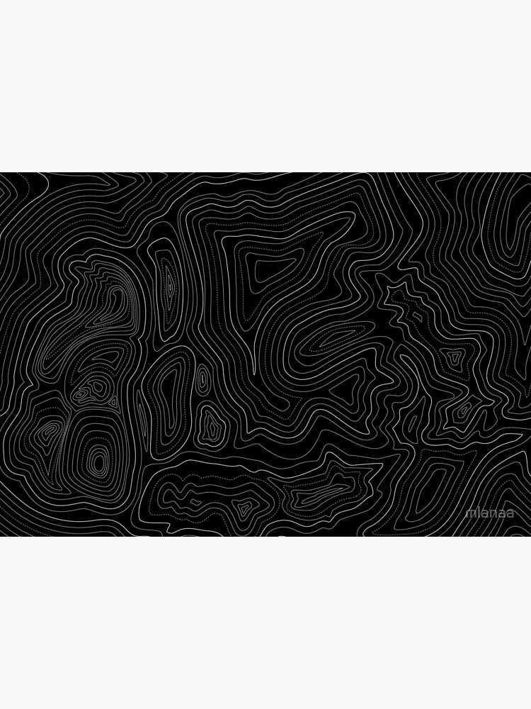 topographic map by mlanaa