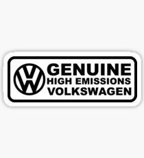 Genuine High Emissions Volkswagen Stickers Sticker