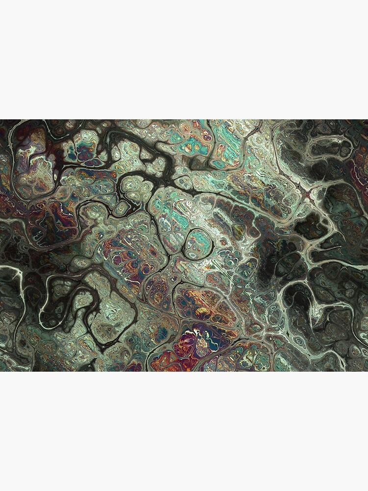 Dragon's Breath Black Greens Abstract Texture Pattern by RootSquare