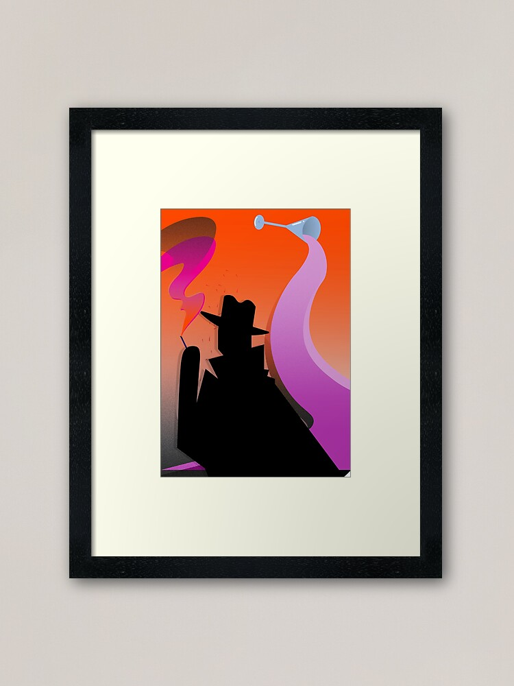 Alternate view of Tribute to Hitchcock Framed Art Print