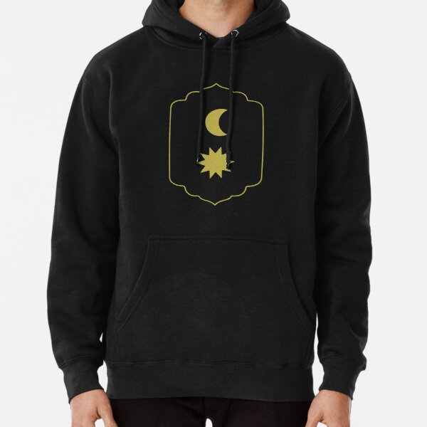 vida cotidiana sol luna Sudadera con capucha