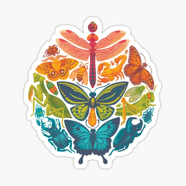 Bugs and Butterflies Sticker