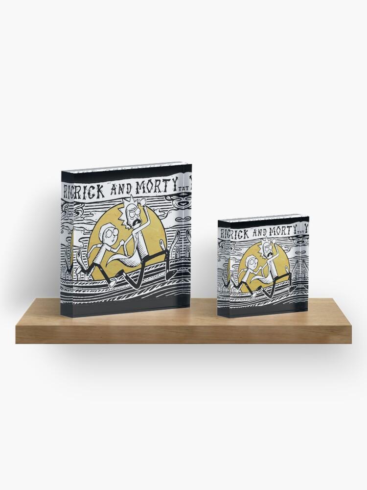 Alternate view of Rick & Morty Acrylic Block