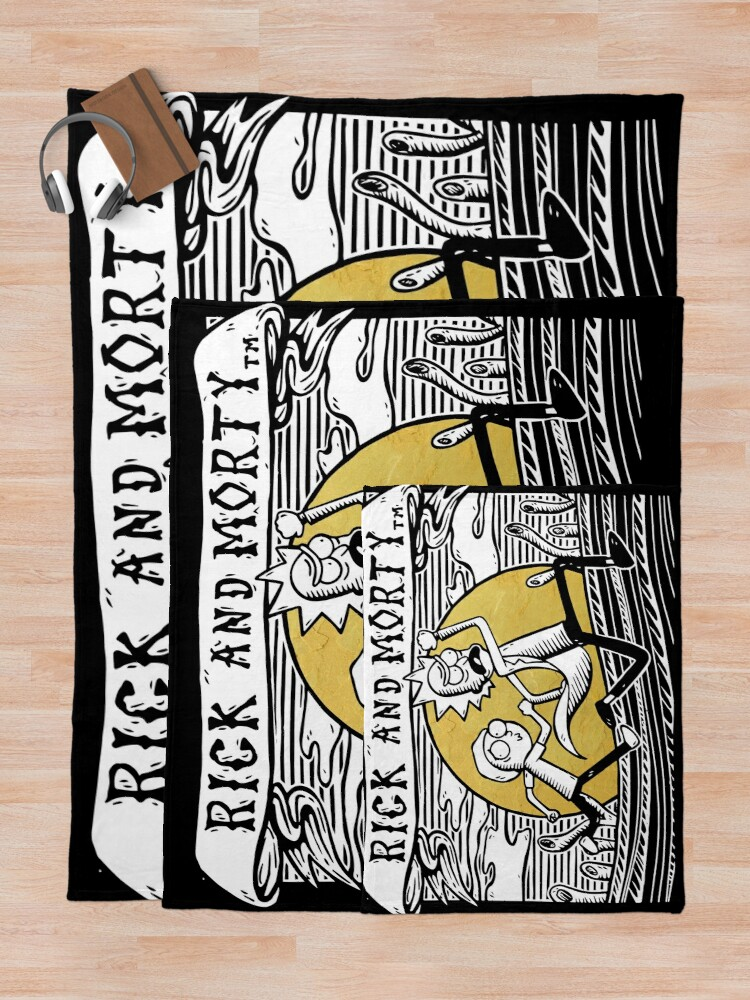 Alternate view of Rick & Morty Throw Blanket