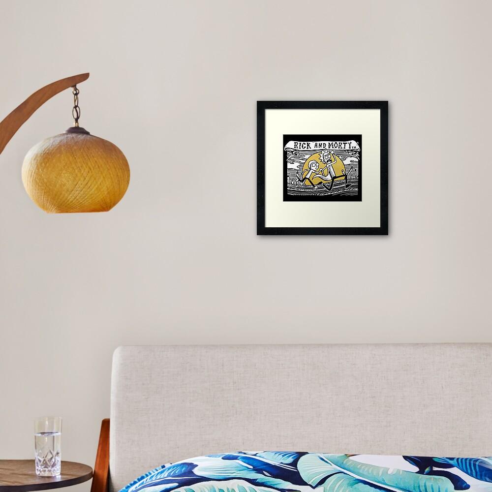 Rick & Morty Framed Art Print