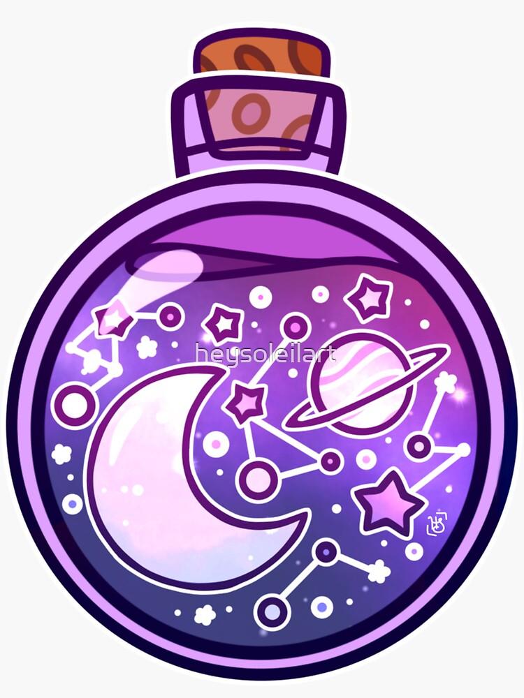 Galaxy Potion Bottle by heysoleilart