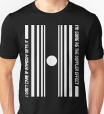 The Doppler effect - White on black Unisex T-Shirt
