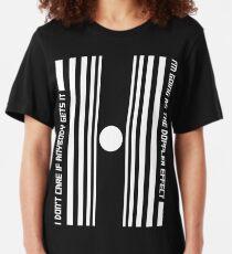 The Doppler effect - White on black Slim Fit T-Shirt