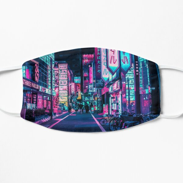 Tokyo - A Neon Wonderland  Flat Mask