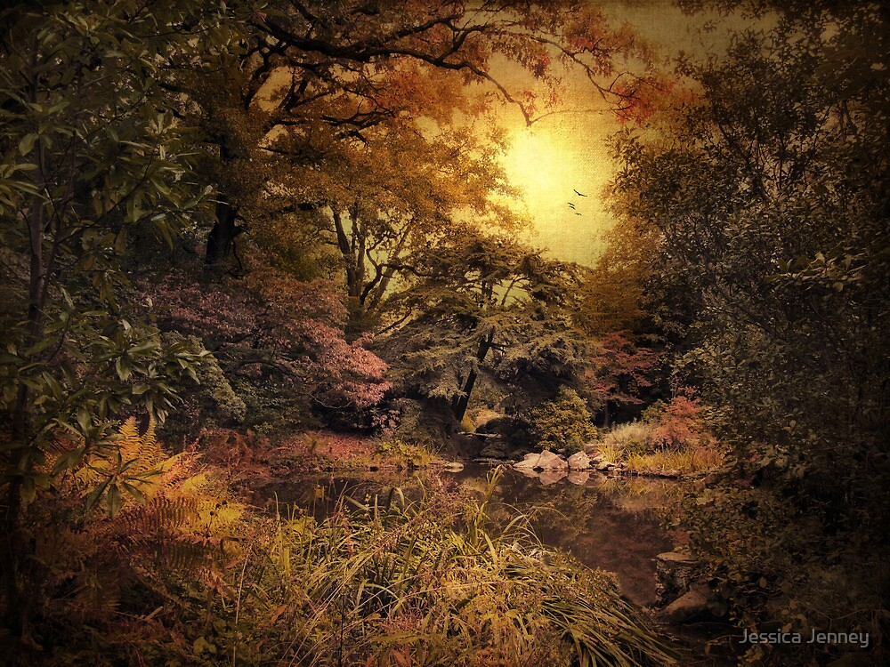 Autumn Twlight Garden by Jessica Jenney