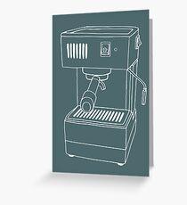 Espresso Machine  Greeting Card