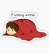 Fucking winter. Sticker