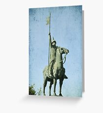 Medieval Knight Greeting Card