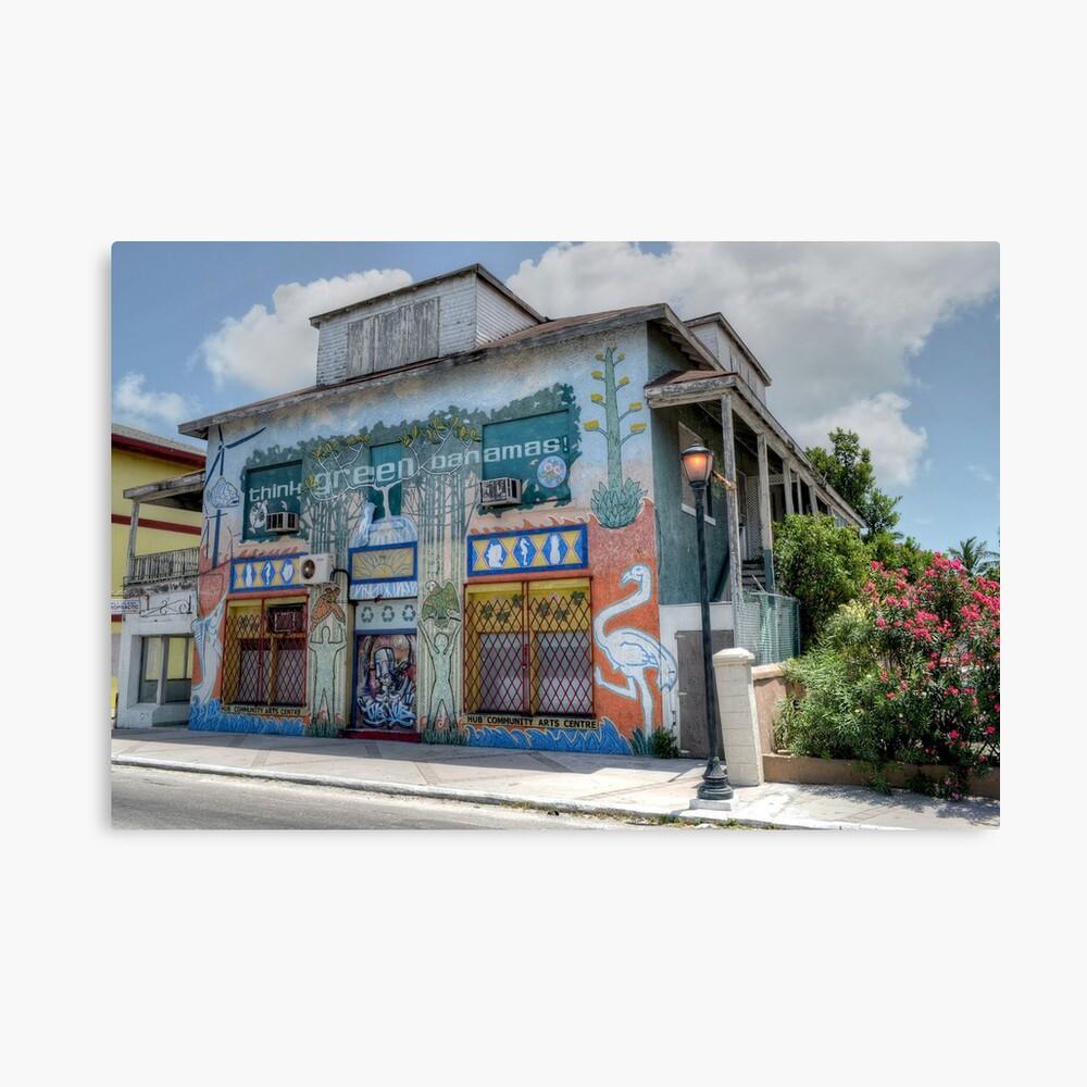 The Hub Community Arts Centre on East Bay Street in Nassau, The Bahamas Canvas Print
