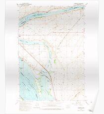 USGS Topo Map Washington State WA Humorist 241600 1964 24000 Poster