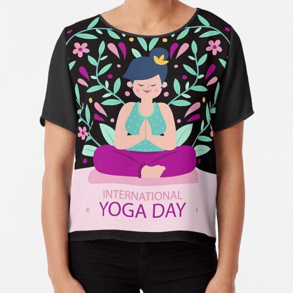 International Yoga Day Chiffon Top