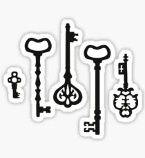 Victorian black & white Keys Sticker