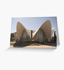 Restored La Concha Motel Building, Las Vegas Greeting Card