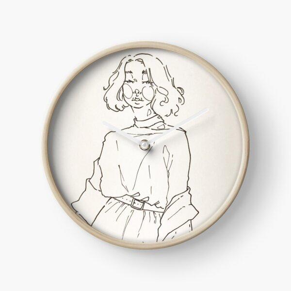 Meadow girl Clock