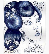 Blue China Poster