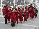 Children in red by awefaul