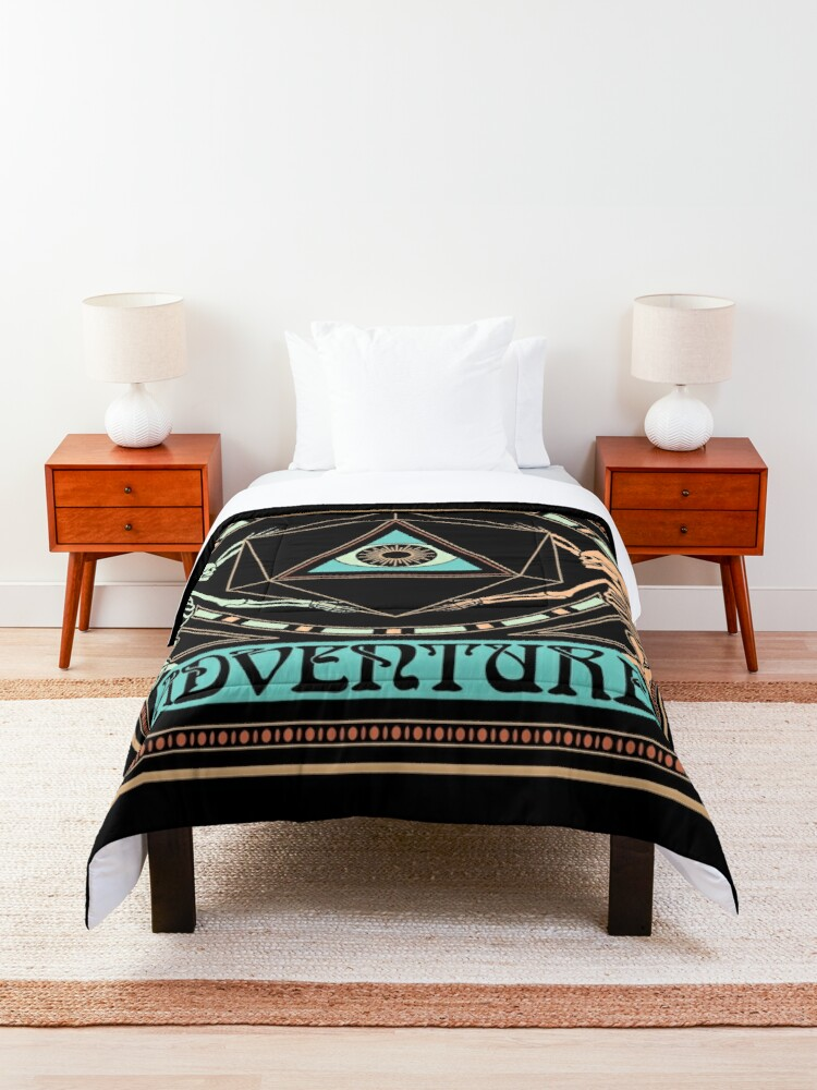 Alternate view of Art Nouveau Dungeons and Dragons Skeletons Comforter