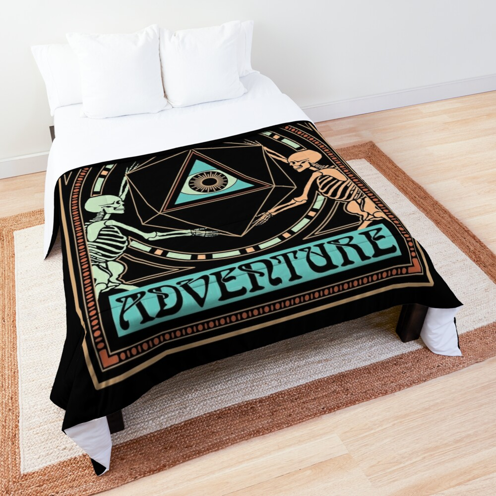 Art Nouveau Dungeons and Dragons Skeletons Comforter
