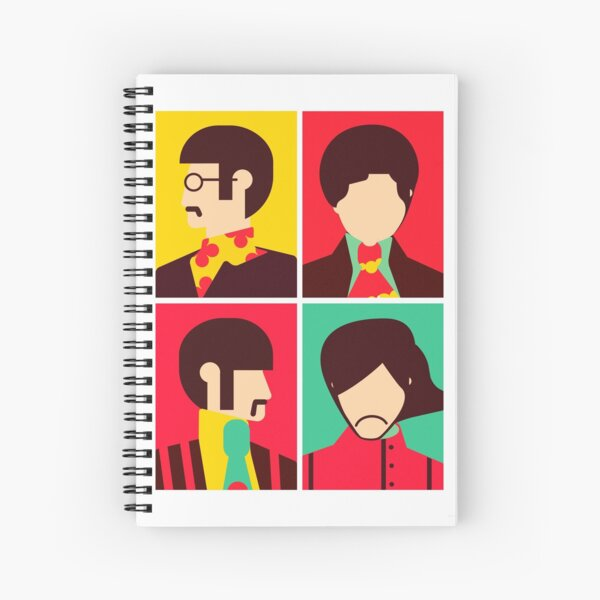 The Fab Four - Minimalist Spiral Notebook