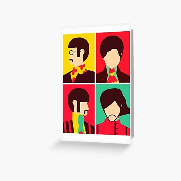 The Fab Four - Minimalist Greeting Card
