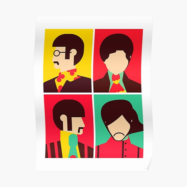 The Fab Four - Minimalist Poster