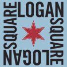 Logan Square Neighborhood Tee by Chicago Tee