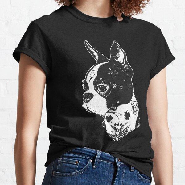 Tattooed Boston Terrier  Classic T-Shirt